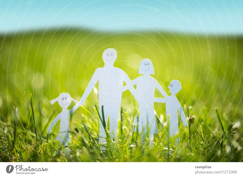 Human being Woman Child Nature Youth (Young adults) Man Summer Joy Adults Environment Life Spring Grass Healthy Happy Family & Relations