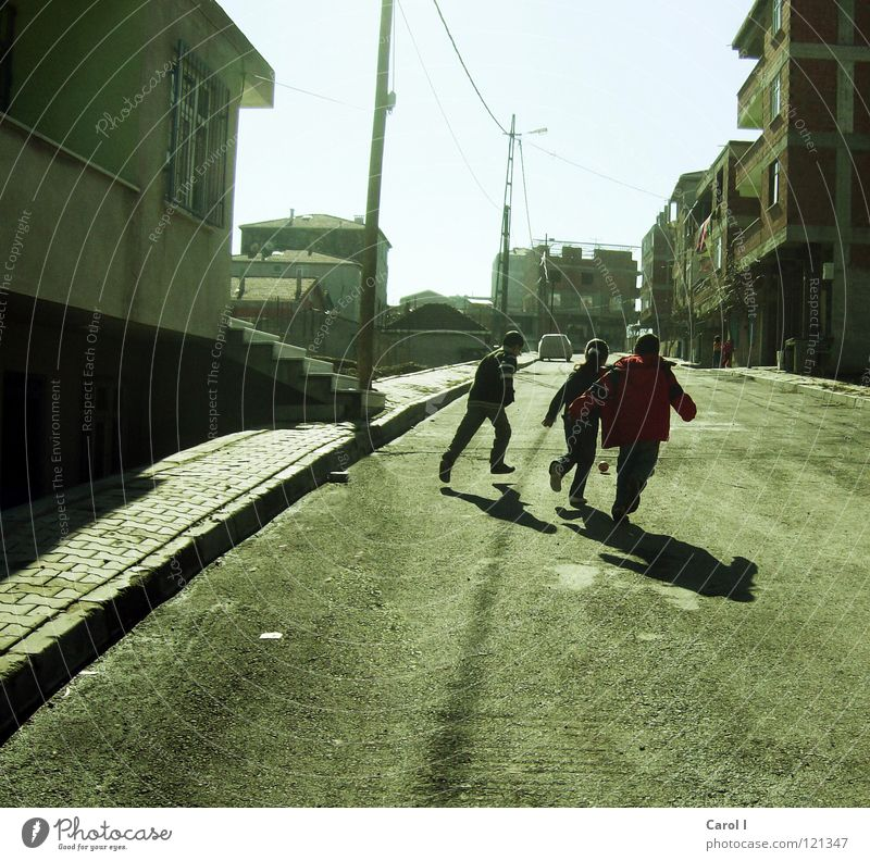 Joy Winter House (Residential Structure) Street Cold Wall (building) Playing Lanes & trails Jump Car Friendship Going Fear Leisure and hobbies Walking Stairs