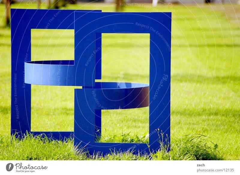 Blue Green Plant Calm Grass Garden Metal Art Park Modern Esthetic Planning Uniqueness Things Culture Lawn