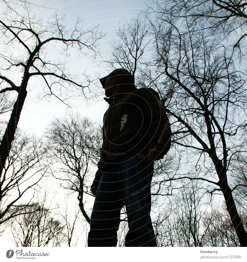 where light is blocked Man Silhouette Black Dark Tree Sky Garden Park Youth (Young adults) Shadow Human being styled