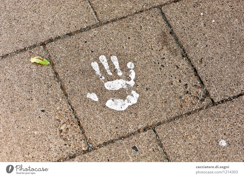 One-handed Traffic infrastructure Street Hand handprint Simple Brash Happiness Funny Gray White Watchfulness Caution Bizarre Loneliness Colour Mysterious