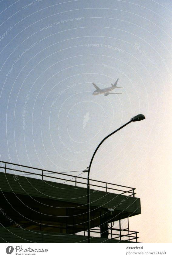 Sky Airplane Fog Beginning Transport Aviation Airport Lantern Parking garage