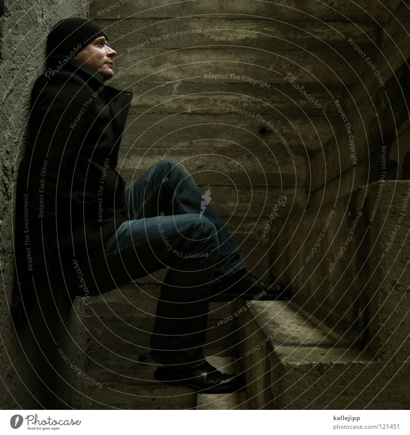 Human being Man Wall (building) Architecture Earth Legs Room Lie Stairs Places Concrete Sleep Corner Posture Jeans Climbing