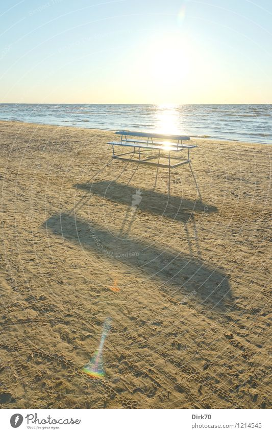 Vacation & Travel Blue Summer Sun Ocean Beach Warmth Life Coast Gray Brown Bright Sand Horizon Leisure and hobbies Illuminate