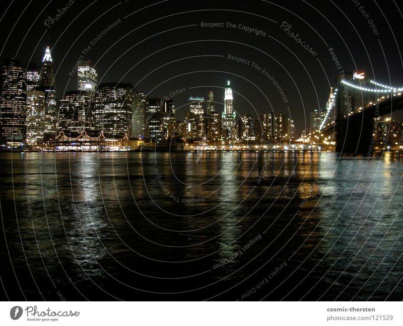Water High-rise River Skyline Jetty City New York City Manhattan Brooklyn Brooklyn Bridge East River