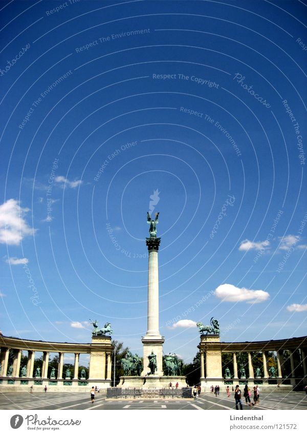 Sky Blue Places Statue Historic Argentina Buenos Aires Budapest Hungarian Plaza