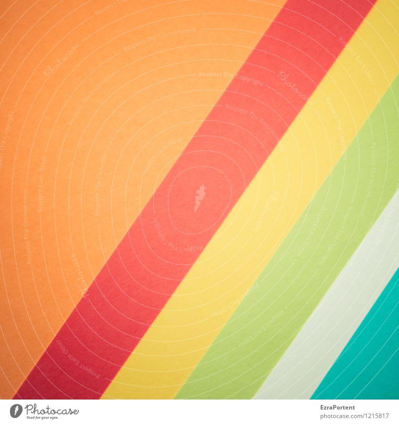 Orggwt Elegant Style Design Handicraft Line Stripe Esthetic Bright Blue Multicoloured Yellow Green Orange Red Turquoise White Colour Illustration Graph Graphic