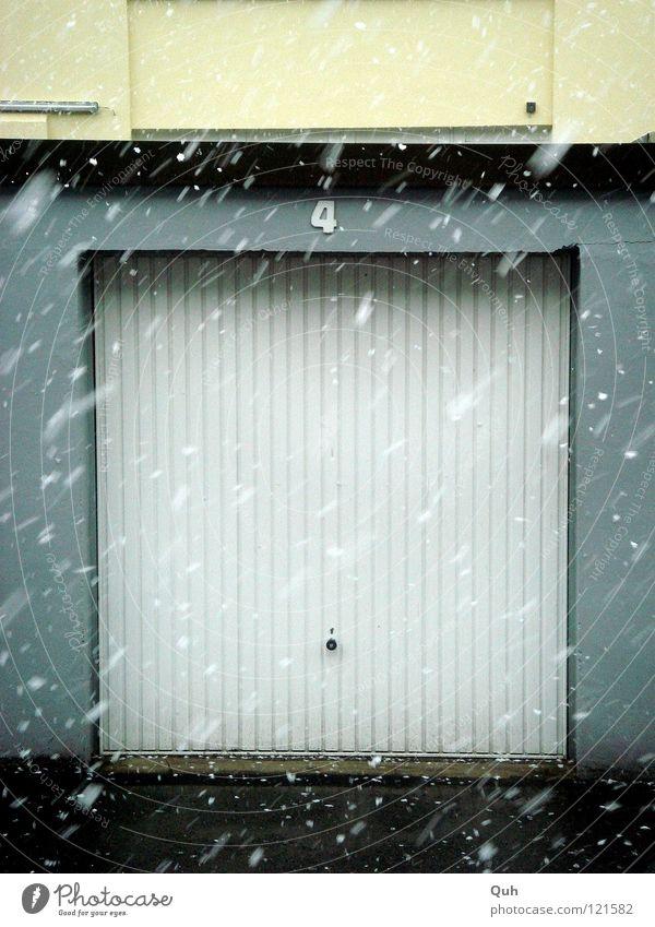 White Winter Cold Snow Weather Door Wet Facade Concrete Construction site 4 Asphalt Farm Gate Square Pallid