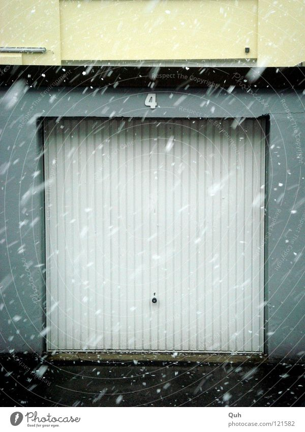 White Winter Cold Snow Weather Door Wet Facade Concrete Construction site 4 Asphalt Farm Gate Square Pallid