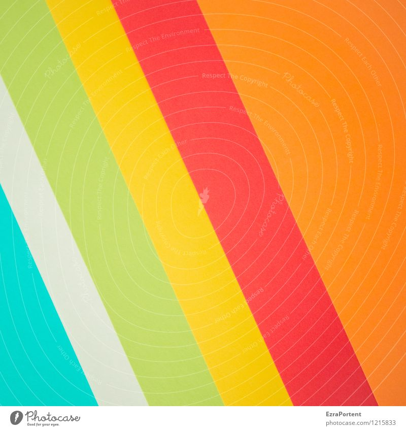 Blue Green Colour White Red Yellow Line Bright Orange Design Esthetic Paper Stripe Illustration Tilt Graphic