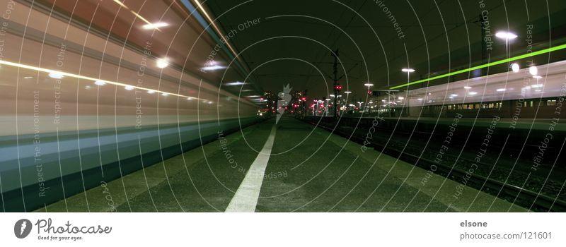 Dark Movement Lanes & trails Line Lamp Lighting Trip Signs and labeling Transport Speed Railroad Driving Target Railroad tracks Lantern Station
