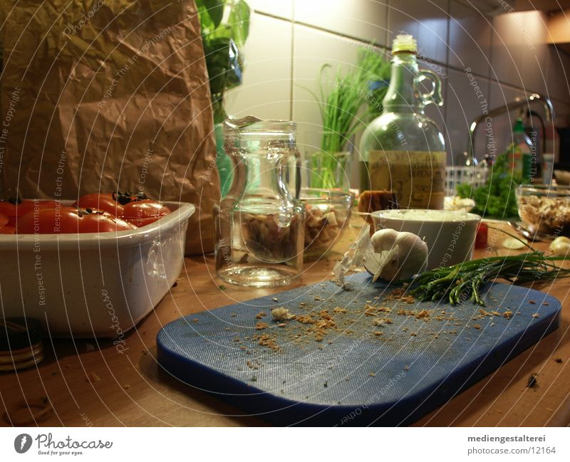 Herbs and spices Cooking & Baking Cooking oil Vegetable Tomato Basil Chives Preparation Garlic Olive oil Breadcrumbs