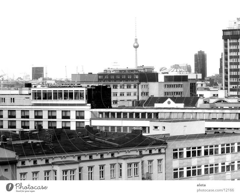 Vacation & Travel White House (Residential Structure) Dark Black Window Architecture Berlin Gloomy High-rise Tall Fear of heights Skyline Wanderlust Landmark
