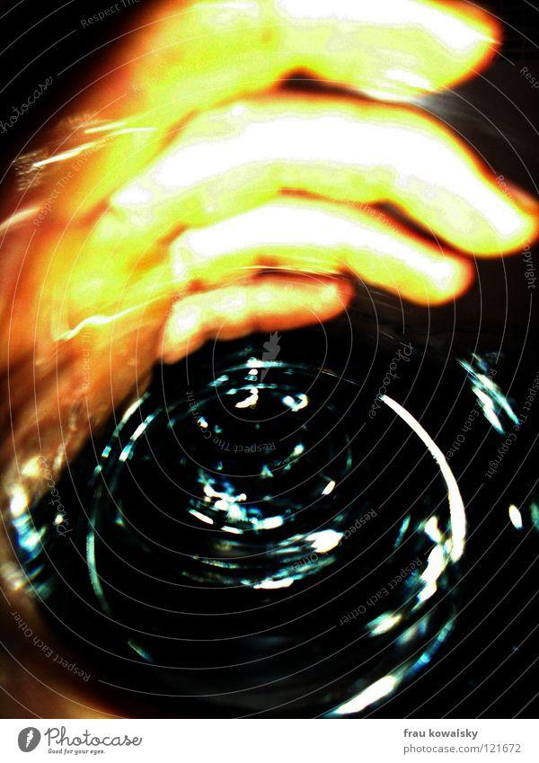 Hand Water Glass Modern Gastronomy Thirst Vertigo
