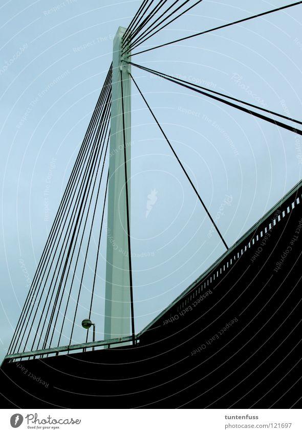 Concrete Rope Bridge Modern Technology Steel Construction Mannheim