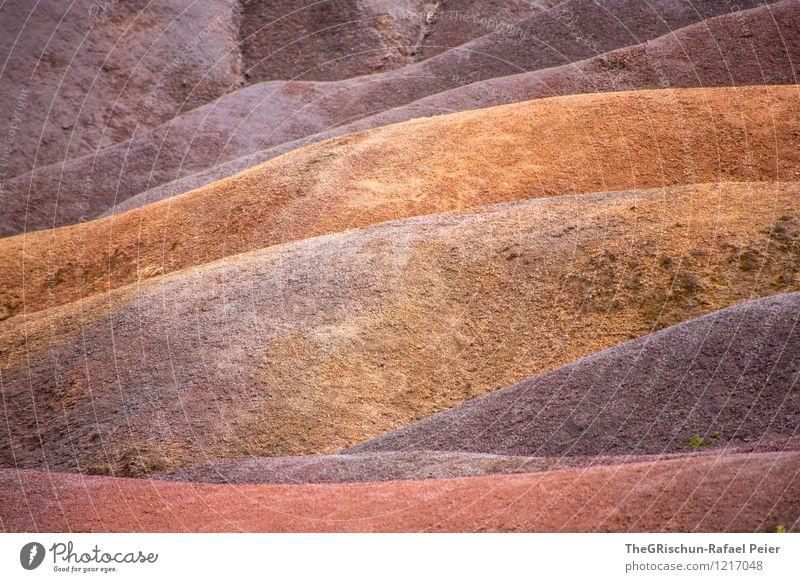 seven coloured earth Nature Landscape Elements Earth Sand Brown Multicoloured Gold Gray Orange Pink Red Black Mauritius Progress Stone Rock Lava Hill