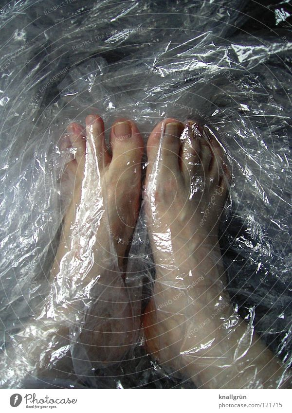 Feet Bright Closed Skin Transparent Obscure Packaging Packing film Packaging material