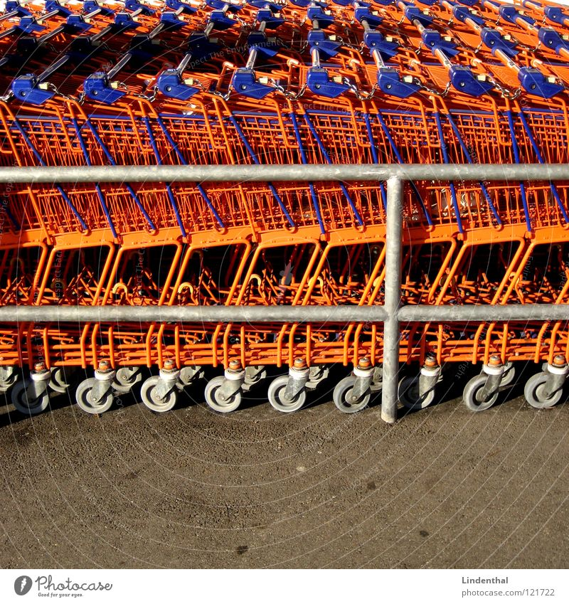 Orange Industry Store premises Markets Supermarket Shopping Trolley Carriage