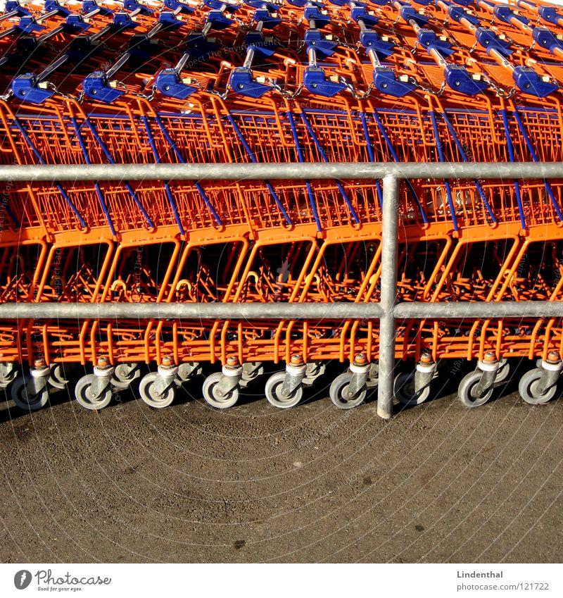 Orange Industry Store premises Markets Supermarket Shopping Trolley Carriage