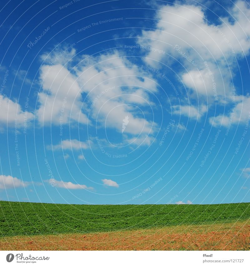Nature Beautiful Sky Green Blue Summer Clouds Meadow Landscape Field Growth Simple Agriculture Direct