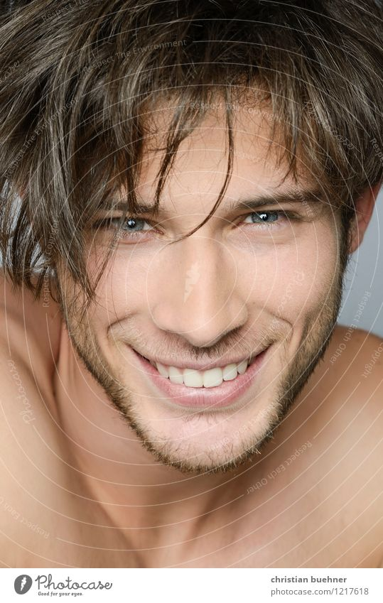Youth (Young adults) Naked Beautiful Young man Eroticism Joy 18 - 30 years Adults Face Love Natural Healthy Happy Laughter Authentic Smiling