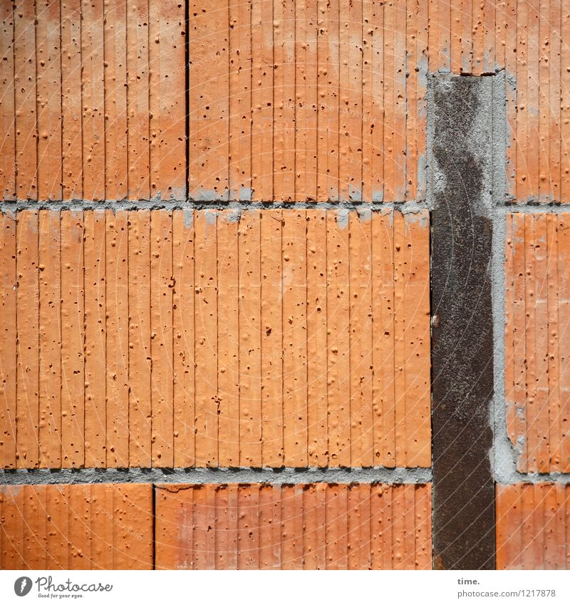 Trash! 2015 | East Block Masonry Construction site Wall (barrier) Wall (building) Seam Mortar Stone Metal Stand Trashy Dry Contentment Disappointment