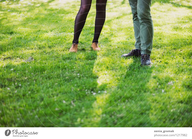Human being Vacation & Travel Green Summer Joy Life Love Grass Feminine Playing Happy Legs Lifestyle Couple Friendship Masculine