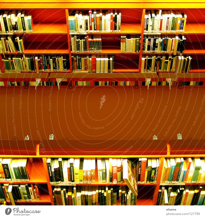 ::BÜCHERWURM:: Reading Education Information Shelves Library Red Art nouveau Book School books Novel Encyclopedia Practice Print media Literature Understanding