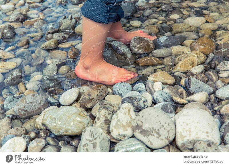 Human being Vacation & Travel Summer Joy Boy (child) Happy Freedom Garden Legs Stone Feet Leisure and hobbies Tourism Hiking Trip Adventure