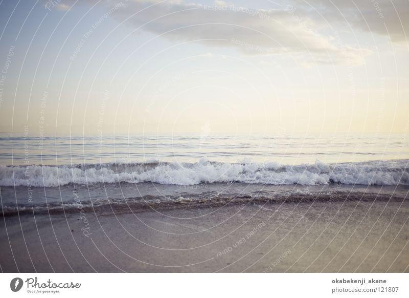 someday #3 Ocean sea Kamakura blue atmosphere Air water wave white evening dusky