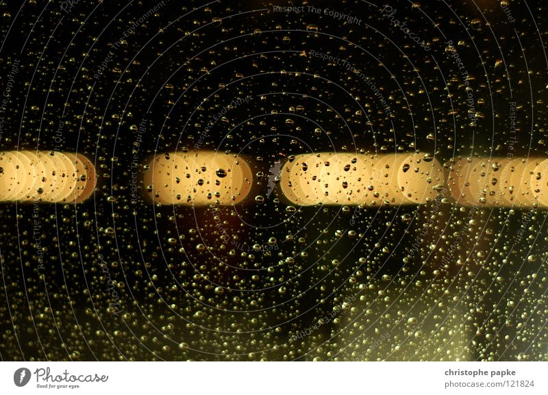 rainy day Colour photo Interior shot Detail Abstract Pattern Structures and shapes Copy Space top Evening Night Light Reflection Light (Natural Phenomenon)