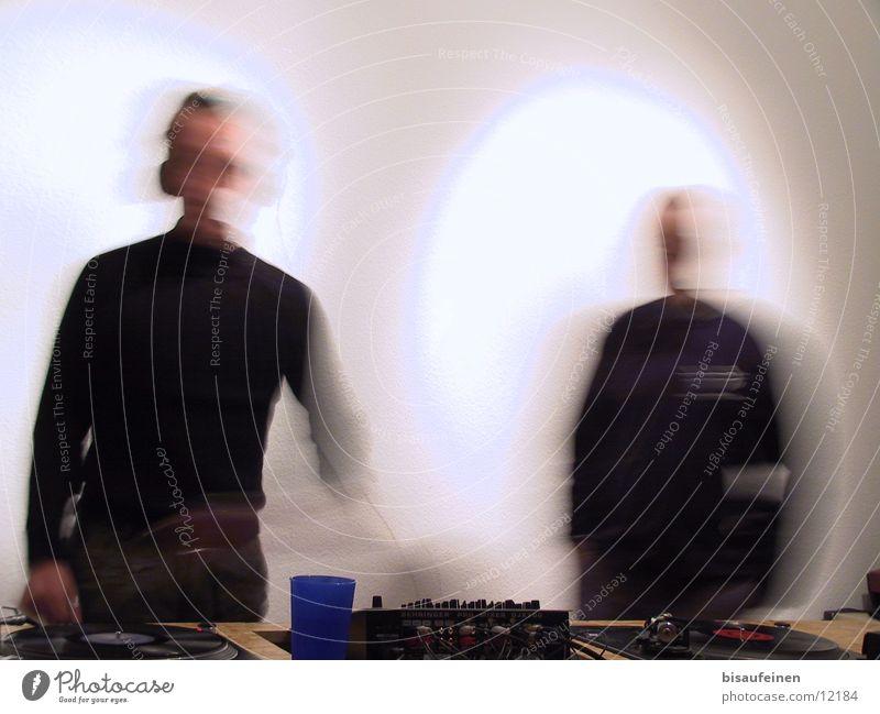 Movement Radio (broadcasting) Disc jockey Mug Mixing desk Record player Broadcasting