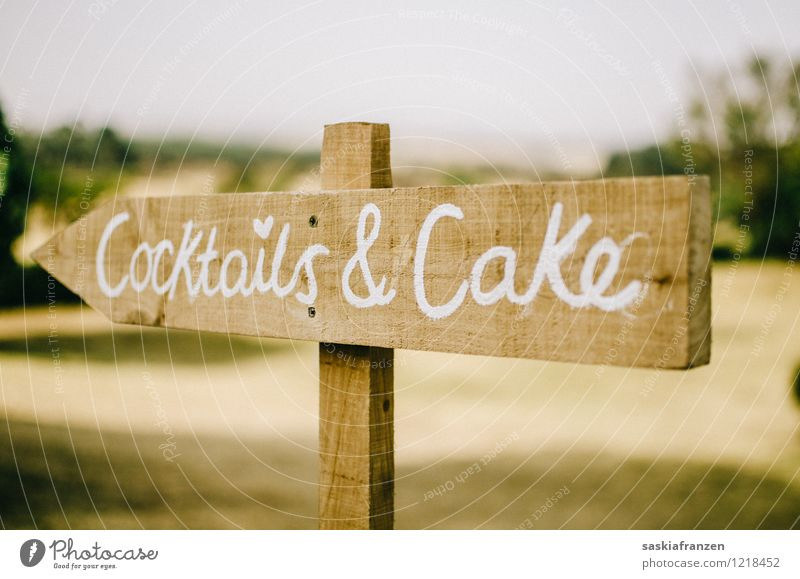 Wood Feasts & Celebrations Modern Signs and labeling Nutrition Beverage Signage Cute Wedding Candy Hip & trendy Cake Alcoholic drinks Cocktail Warning sign