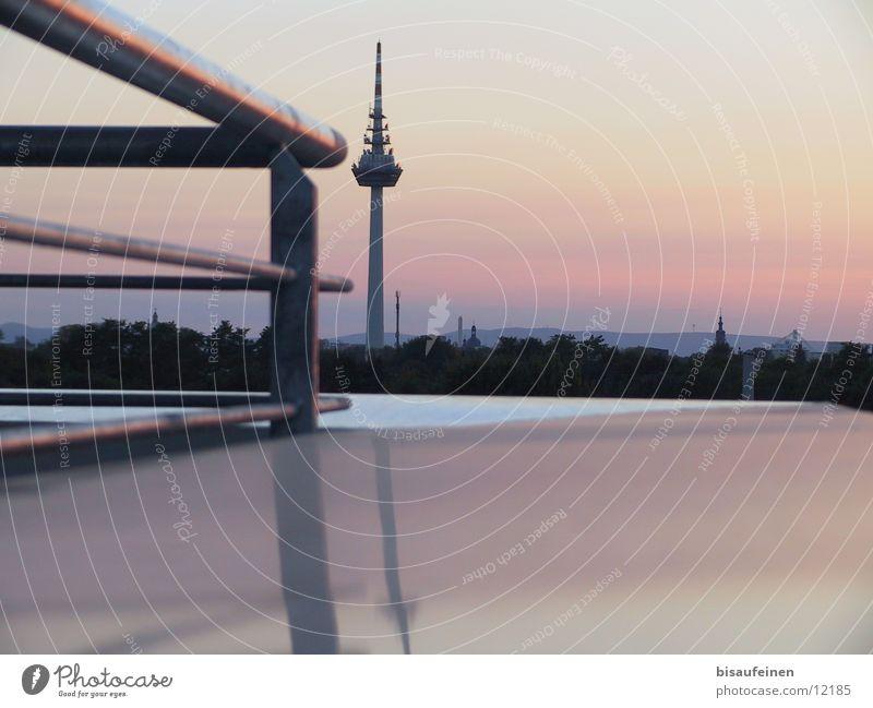 skyline Reflection Mannheim Architecture Tower Dusk Skyline Gel&#1076 nder Television tower