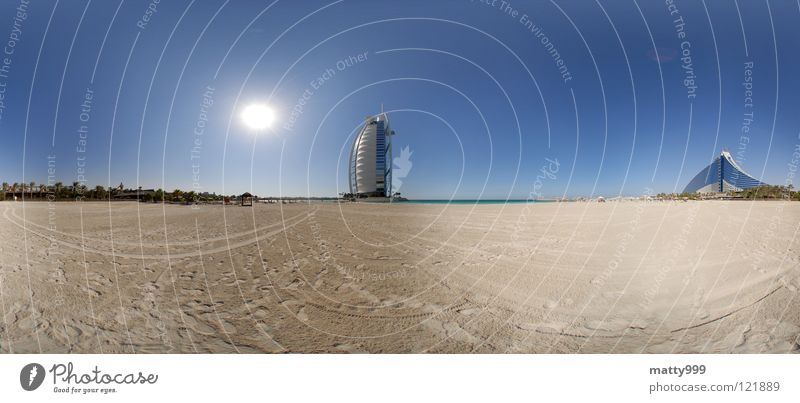 Sun Ocean Vacation & Travel Large Panorama (Format) Dubai United Arab Emirates Jumeira Beach Hotel Burj Al-Arab Hotel