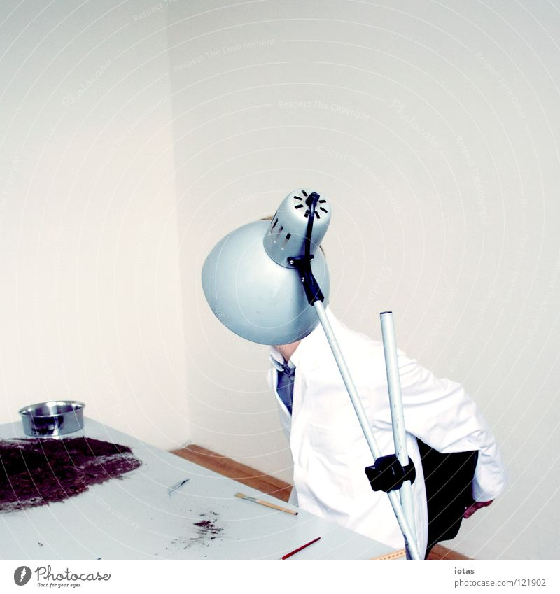 Man Lamp Work and employment Office Business Art Table Science & Research Mysterious Things Hide Clothing Anonymous Laboratory Research Concepts &  Topics