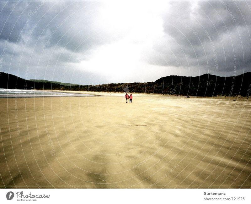 Sky Ocean Beach Calm Loneliness Far-off places Autumn Sand Coast Earth Island New Zealand South Island
