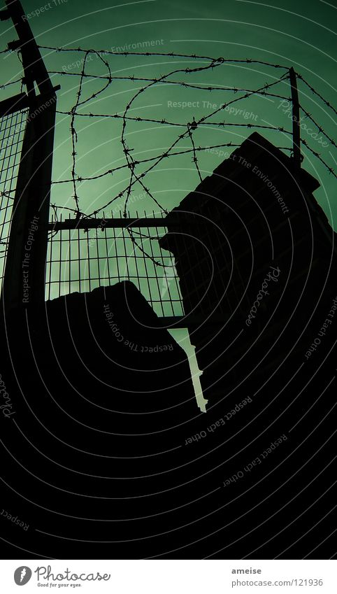 Sky Green Dark Wall (barrier) Fear Safety Dangerous End Threat London Fence Panic England To break (something) Thief Backyard