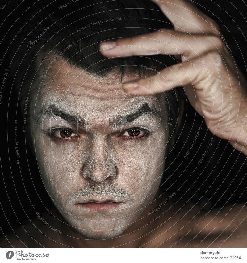 Man Hand White Black Face Eyes Dark Hair and hairstyles Mouth Skin Nose Fingers Lips Wrinkles Facial hair Eyelash