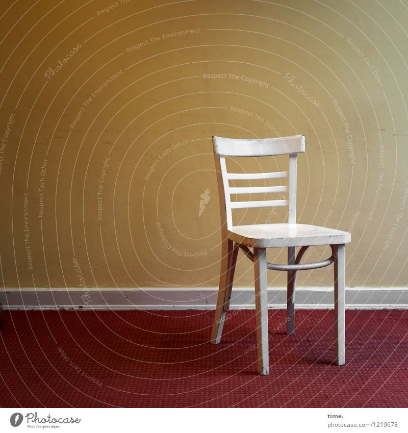 White Loneliness Calm Wall (building) Interior design Time Flat (apartment) Room Design Living or residing Arrangement Stand Perspective Esthetic Simple Chair