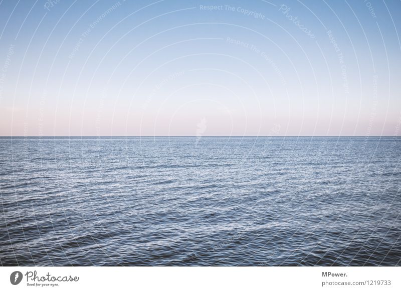 nothing more than sea Environment Landscape Beautiful weather Maritime Ocean Baltic Sea Waves Swell Horizon Sunset Line Lake Sky Cloudless sky Far-off places