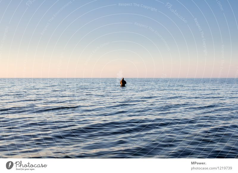 phishing for abendbrot Nature Bay Baltic Sea Ocean Work and employment Feeding Wet Fishing (Angle) Human being Angler Stand Leisure and hobbies Relaxation