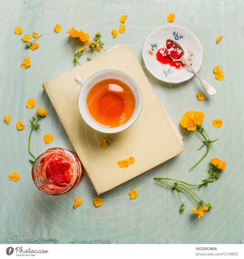 Summer Flower Leaf Spring Blossom Style Garden Food Lifestyle Design Decoration Glass Nutrition Table Beverage Bay
