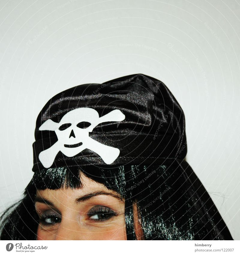 Woman Joy Face Eyes Hair and hairstyles Head Mask Carnival Snapshot Pirate Dress up Camouflage Wig Lower Caper