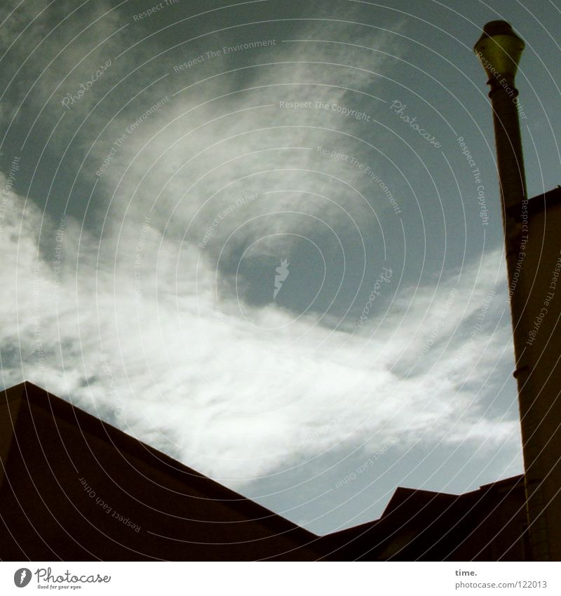 Sky Vacation & Travel Clouds Building Wind Horizon Crazy Roof Tower Diagonal Chimney Backyard Blow Sanddrift Blown away