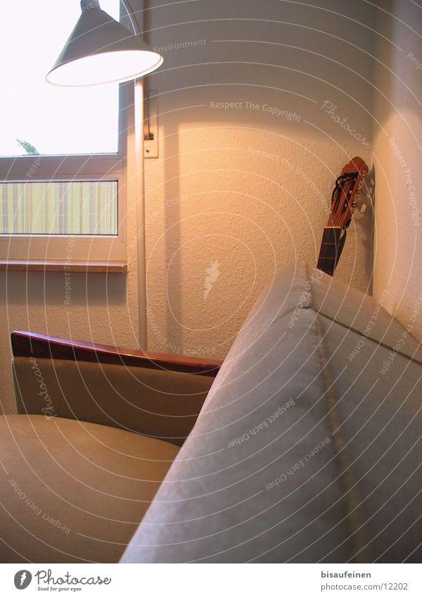 Lamp Wall (building) Window Corner Living or residing Sofa Guitar Living room