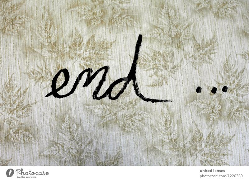 Art Contentment Characters Esthetic Creativity End Typography Apocalyptic sentiment Terminus Rectum Output End stroke End of no passing zone