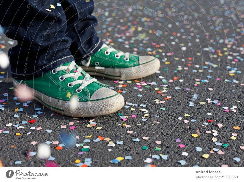 AK# green shoe II Art Esthetic Contentment Feasts & Celebrations Multicoloured Many Confetti Footwear Sneakers Youth (Young adults) Joy Carnival Pixel