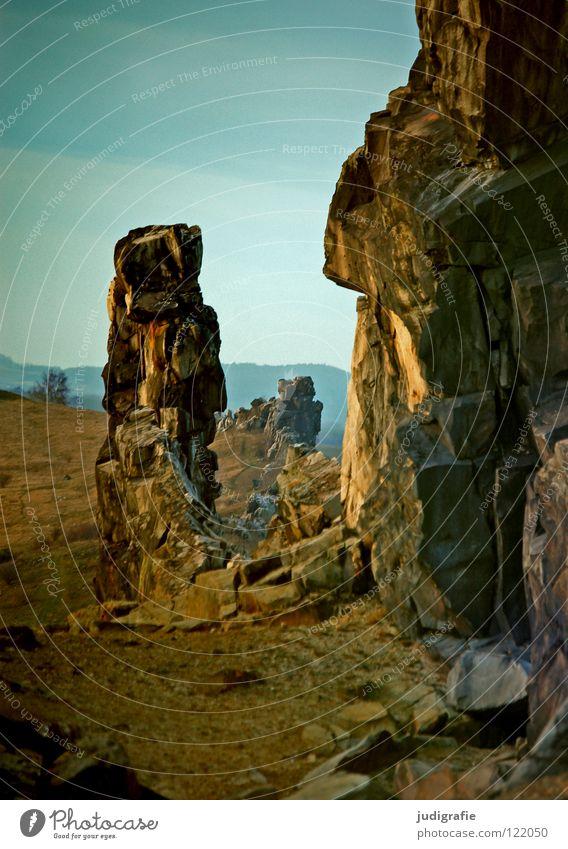 Nature Sky Colour Mountain Stone Landscape Line Rock Might Row National Park Harz Lime Sandstone Sediment