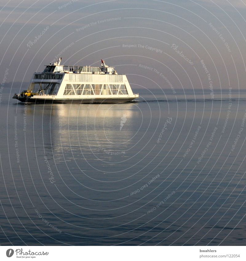 Water Sky Blue Calm Gray Lake Watercraft Waves Driving Navigation Ferry Lake Constance Surface of water